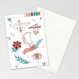 Boho moodboard Stationery Cards