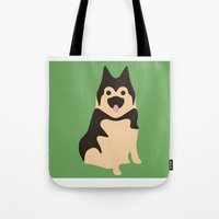 german Tote Bags featuring German Shepherd by Fandango089