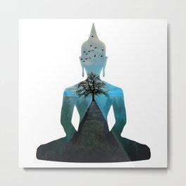 Nature Makes Me Calm Like The Buddha Metal Print