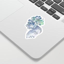 Obey Me: Blue (graffiti flower woman portrait) Sticker