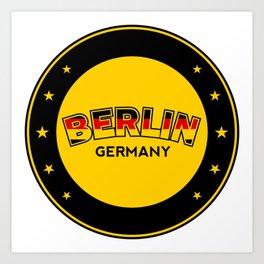 Berlin, circle, black Art Print