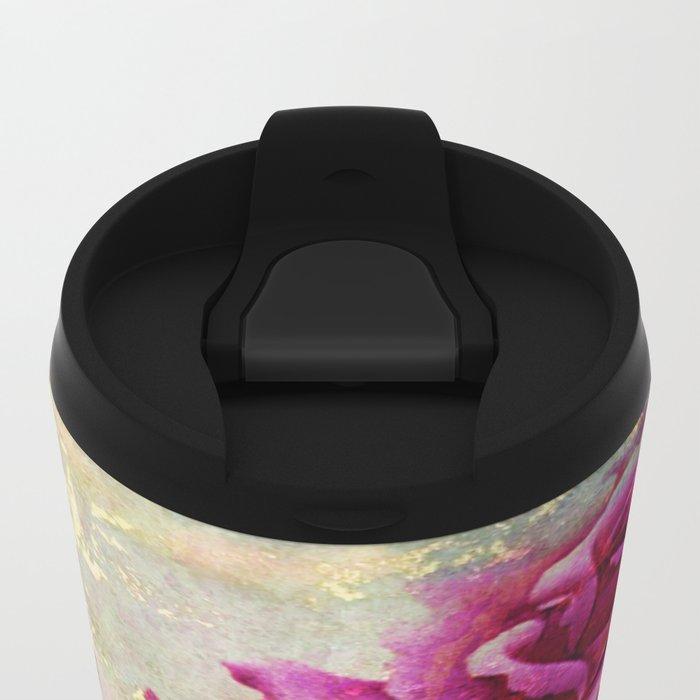 rosebush and textures Metal Travel Mug