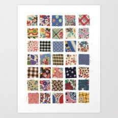 UPPERCASE feedsacks Art Print