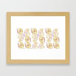 Circles in water Framed Art Print