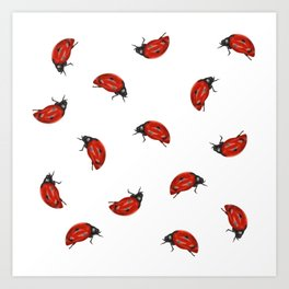Ladybug Pattern Art Print