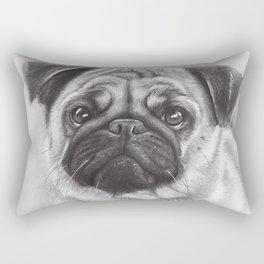 Cute Pug Dog Animal Pugs Portrait Rectangular Pillow
