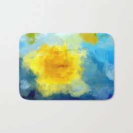 Sun And Flowers Adorn We Bath Mat