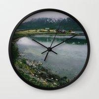 norway Wall Clocks featuring Norway by A. Serdyuk