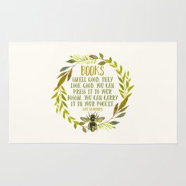 BEE About Books Rug