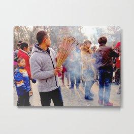 Beijing Incense  Metal Print