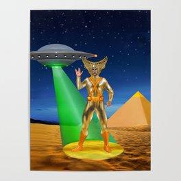 Ancient Vulcan Space Alien Poster