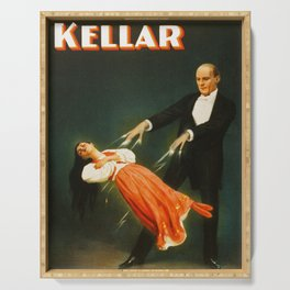 Vintage Kellar Magician - Levitation Serving Tray