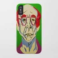 larry david iPhone & iPod Cases featuring Larry David 2 by Alyssa Underwood Contemporary Art