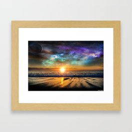 Beach and beyond. Framed Art Print