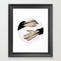 Hands In The Dark Framed Art Print