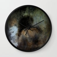 imagerybydianna Wall Clocks featuring among her declining days by Imagery by dianna
