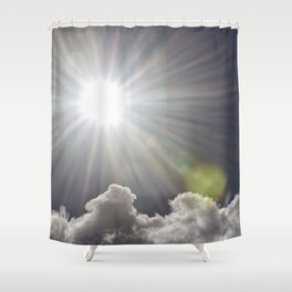 Lens flare sunflash Shower Curtain