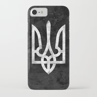ukraine iPhone & iPod Cases featuring Ukraine Black Grunge by Sitchko Igor