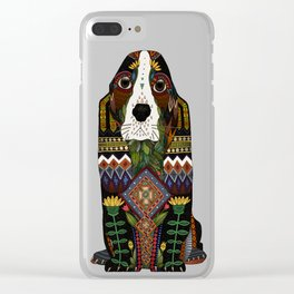 Basset Hound pewter Clear iPhone Case