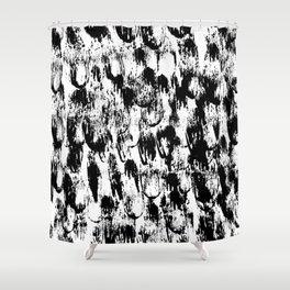 Black Pattern#3 Shower Curtain