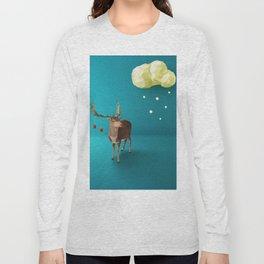 Low Poly Reindeer Long Sleeve T-shirt