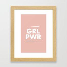 Girl Power / Pink Framed Art Print