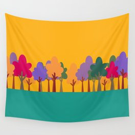 Whimsical trees Wall Tapestry
