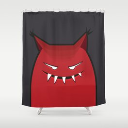 Evil Monster With Pointy Ears Shower Curtain