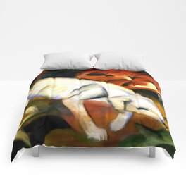 "Franz Marc ""Three animals (dog, fox and cat)"" Comforters"
