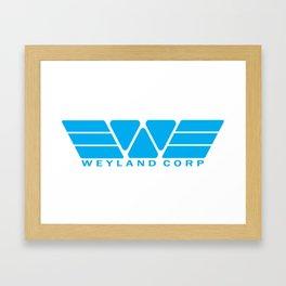 Weyland Corp - Blue Framed Art Print