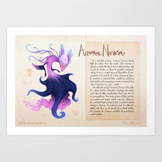 Real Monsters- Anorexia Nervosa Art Print