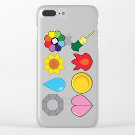 Kanto Gym Badges Clear iPhone Case