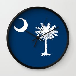 State flag of South Carolina - Authentic version Wall Clock