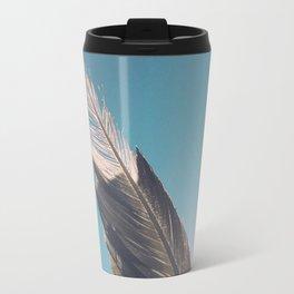 Brown Feathers Travel Mug