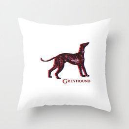 Greyhound Dog | Animal Art Design Throw Pillow
