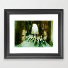 without an end or a beginning  Framed Art Print