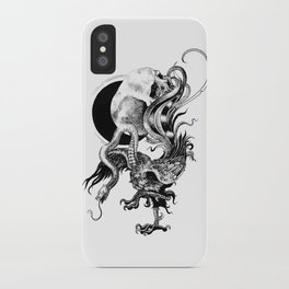 Silver And The Beast iPhone Case