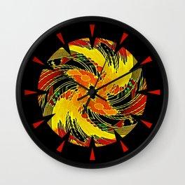 Mongol Sun Wall Clock