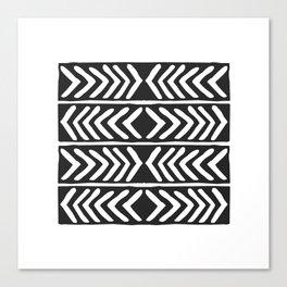 Tribal Print B&W- 04 Canvas Print