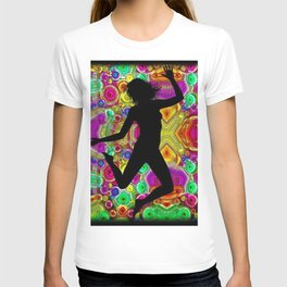 Music and Dance Is Life Motif T-shirt