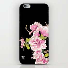 Heavenly Blossom on Black iPhone Skin