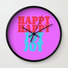Happy Happy Joy Joy Wall Clock