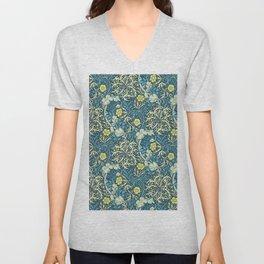 """William Morris """"Seaweed"""" 1. Unisex V-Neck"""