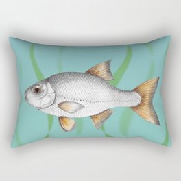 Common roach fish Rectangular Pillow