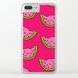 Pink Watermelon Clear iPhone Case