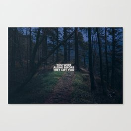 On loneliness. Canvas Print