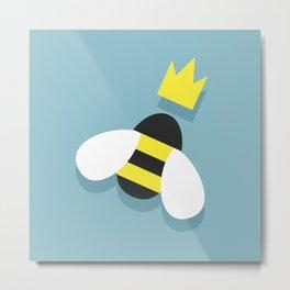 Queen bee and honeybees Metal Print