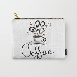 Coffee Cup With Flourish Steam Carry-All Pouch
