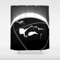 gravity Shower Curtains featuring Gravity by justjeff