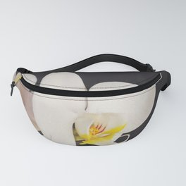Black and White Orchid Fanny Pack